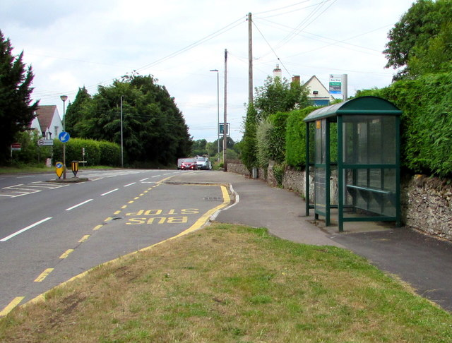 The Swan bus stop and shelter, Nibley