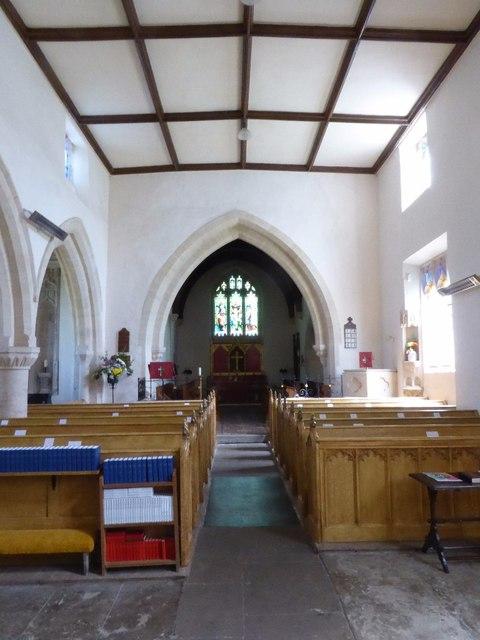 Interior of Aldsworth church