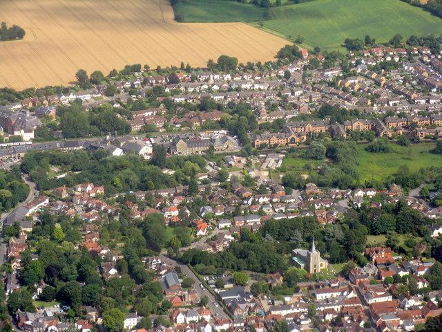 Sawbridgeworth from the air