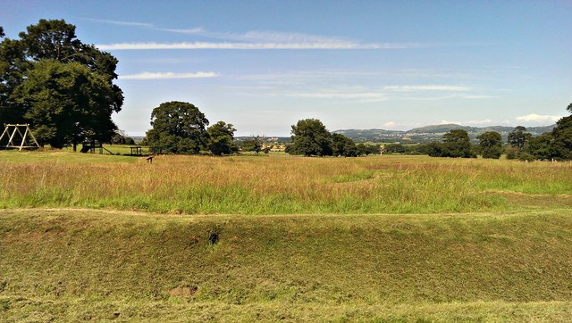 View north-east from Bodelwyddan Castle and Park