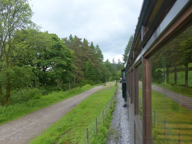Approaching a level crossing, Brecon Mountain Railway