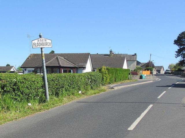 Entering Flookburgh on the B5278