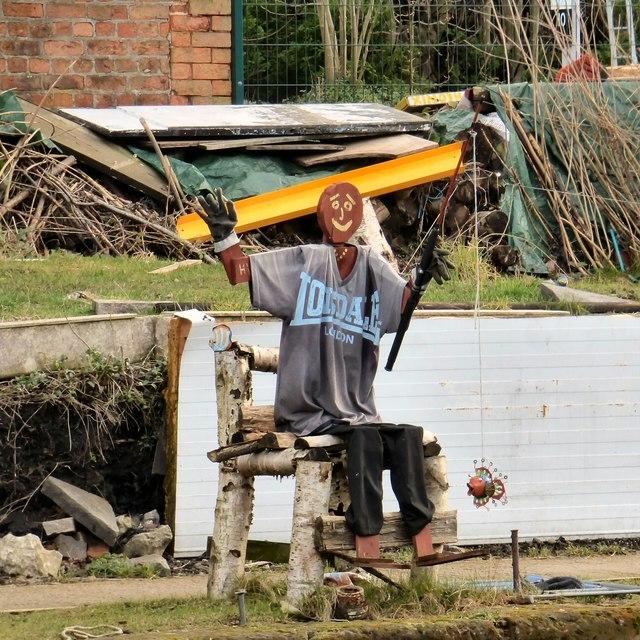 Scarecrow fishing