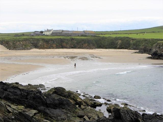 An almost deserted beach