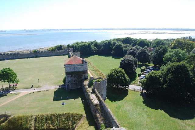 The view south-southwest from Portchester Castle