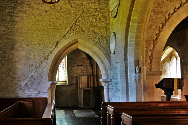 Asthall, St. Nicholas' Church: The Cornwell Chantry entrance