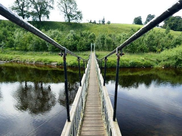 Suspension bridge across the River Wharfe