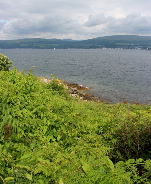 Bracken clad east coast of Great Cumbrae