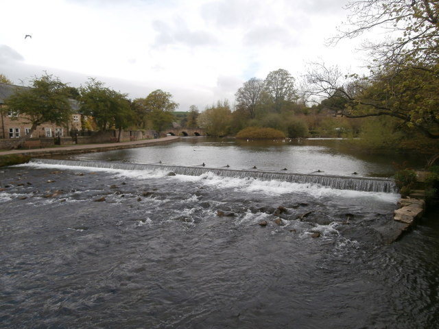 Weir on the river Wye, Bakewell