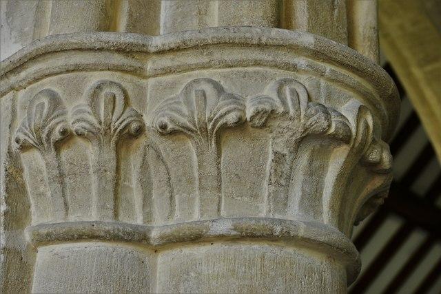 Swinbrook, St. Mary's Church: Capital