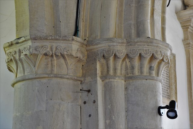 Swinbrook, St. Mary's Church: Capitals
