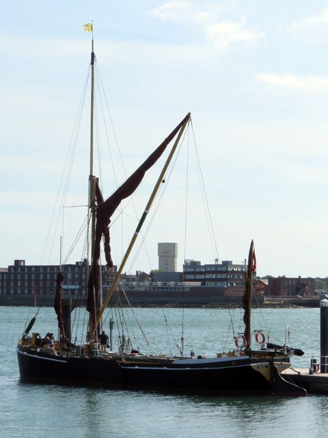 The Thames barge Alice