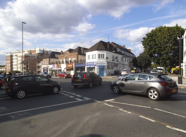Golders Green Road at the junction of Highfield Avenue