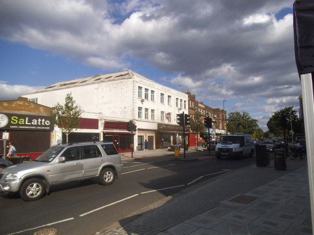 Shopping parade on Golders Green Road