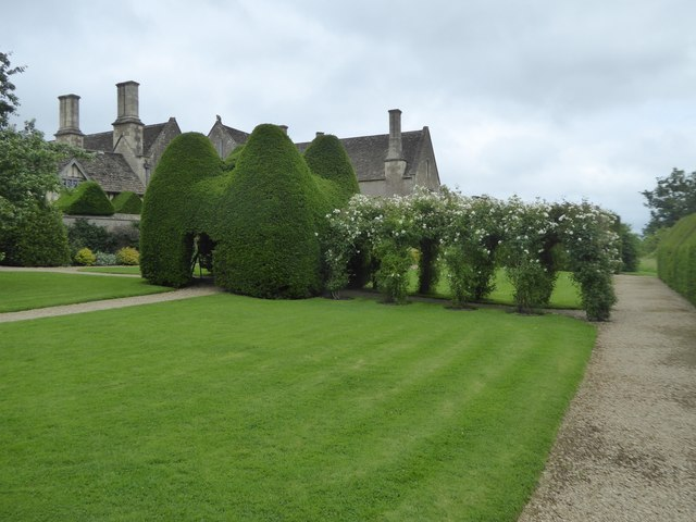 Topiary in garden of Great Chalfield Manor