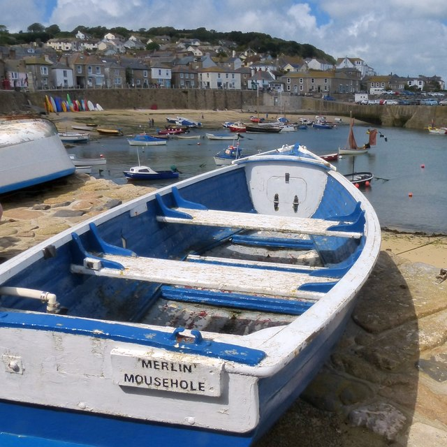 A boat on the harbour wall, Mousehole
