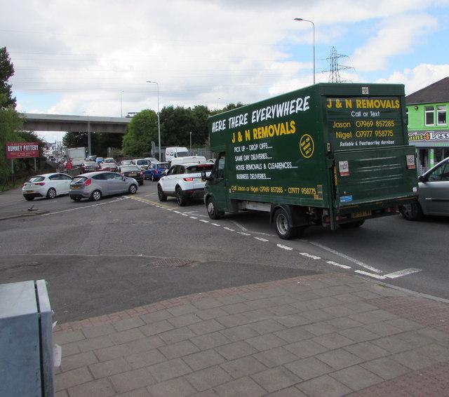 J&N Removals vehicle, Newport Road, Cardiff
