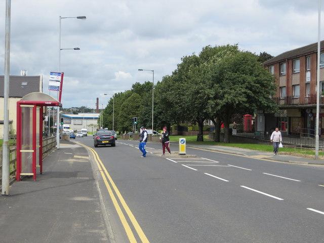 Sticker Lane (A6177) at Swain Green, Bradford