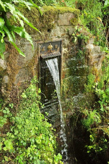 Postbox as fountain, Ugbrooke