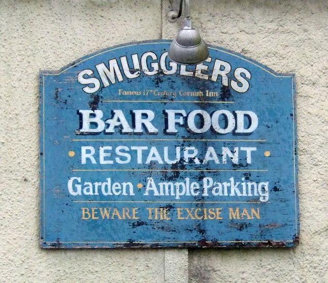 Sign on the Smugglers Inn, St Erth Praze
