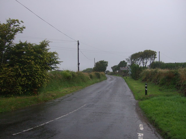 Looking north east on the B3280, Black Rock