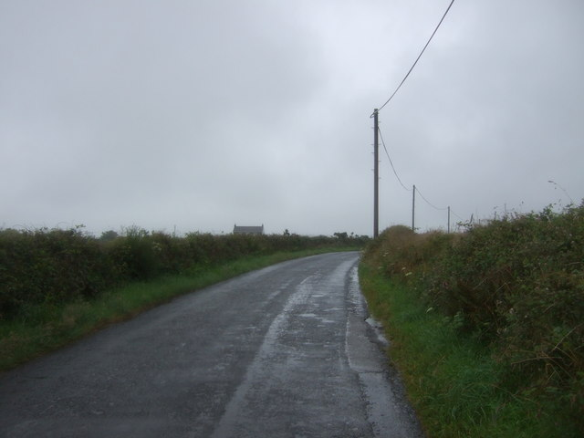 Looking north on the B3280