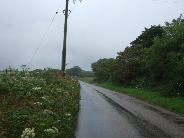 Looking north east on the B3280