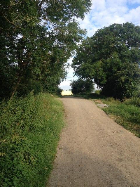 Field road out of Braybrooke
