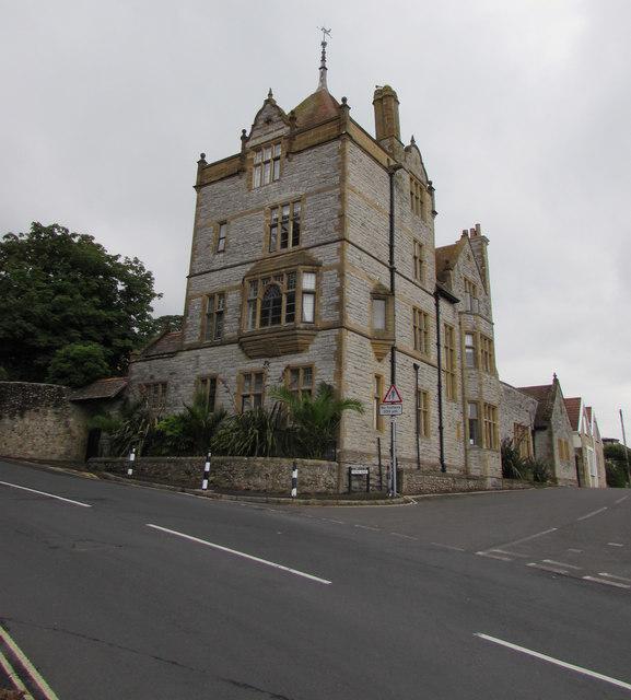 Grade II listed Coram Tower, Lyme Regis