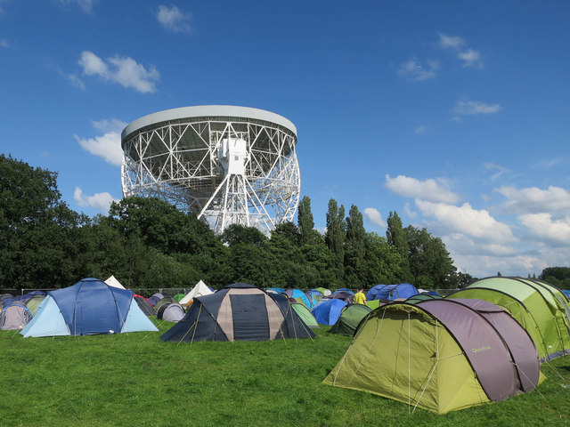 Staff camping field for the Bluedot Festival
