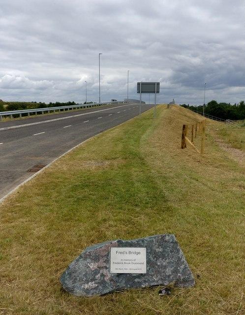 Fred's Bridge crossing the M1 motorway