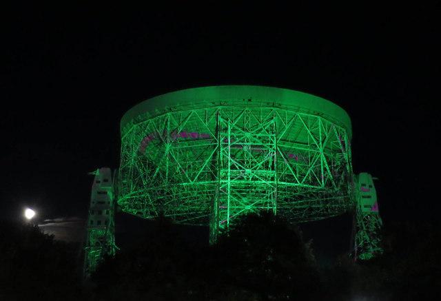 Light show on the Lovell Telescope