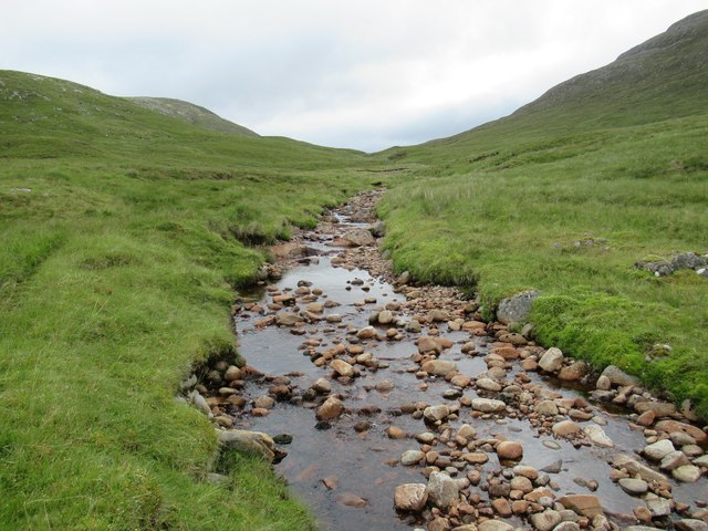 Allt Feith a' Mhoraire above upper Speyside