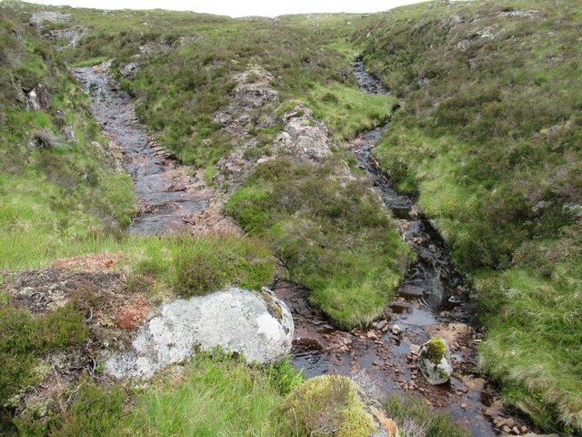 Rocky confluence at foot of Carn Dearg in upper Speyside