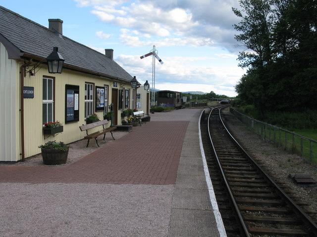 Broomhill Station, Strathspey Railway