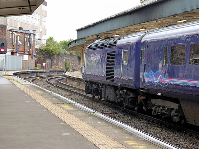 A High Speed Train at Newport