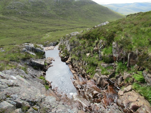 Gorgeous part of rocky burn at foot of Carn Dearg in upper Speyside