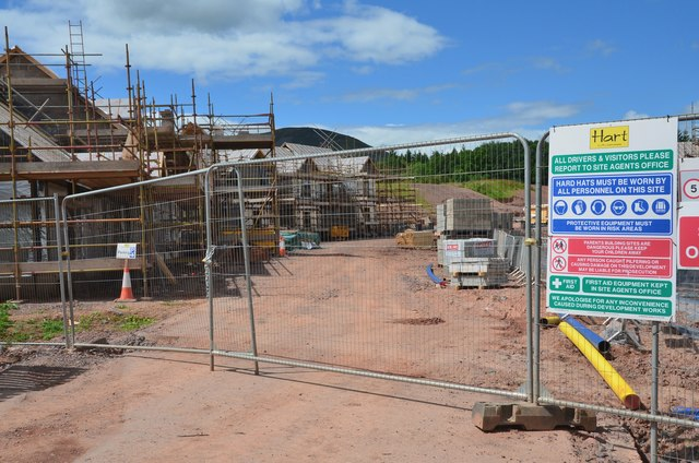 New housing site, Newtown St Boswells