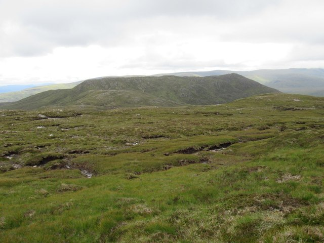 View south from near erratic boulder high above Speyside