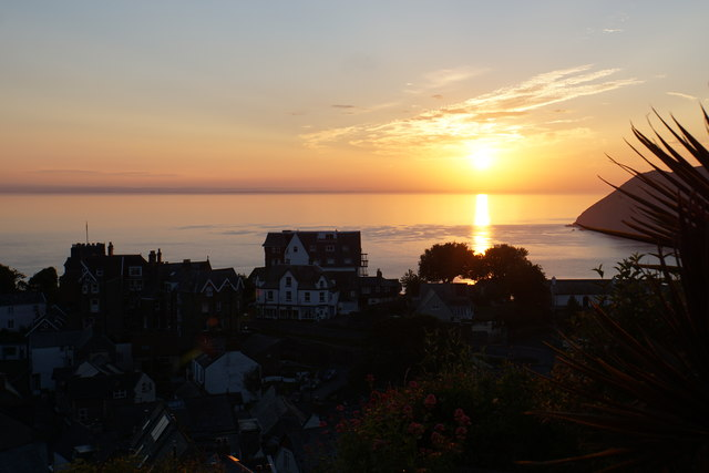 Sunrise over Lynton