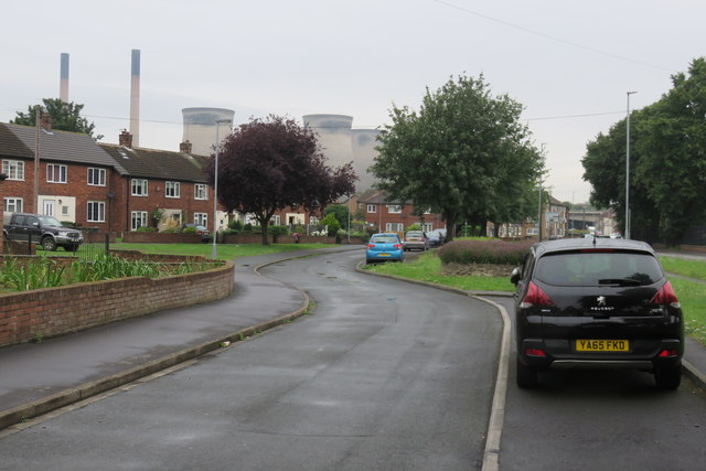 Ferrybridge's cooling towers from Fishergate, Knottingley
