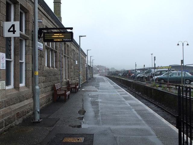 Platform 4 Penzance Railway Station