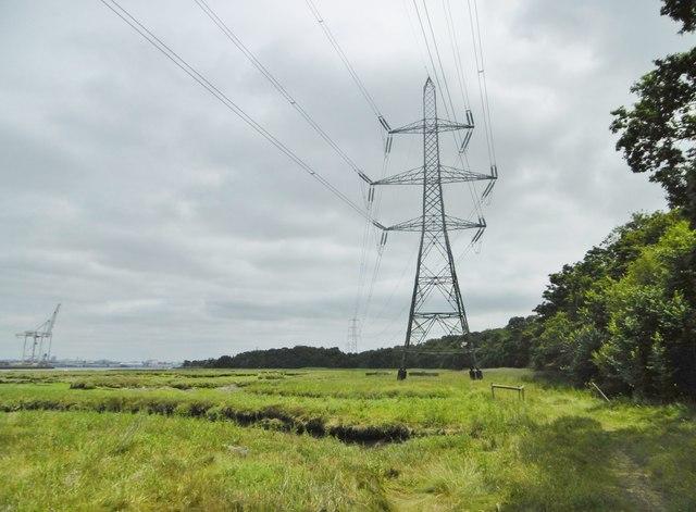 Eling, powerlines