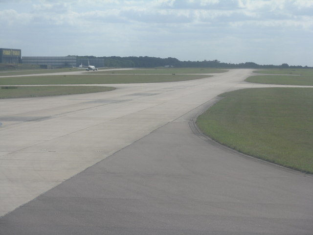 Taxiway at London Stansted Airport