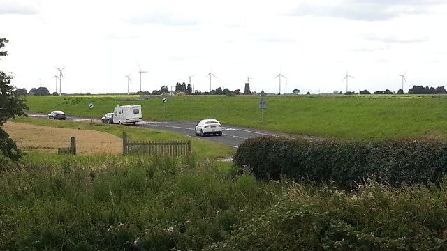 A161 from the bridge over Swinefleet Warping Drain