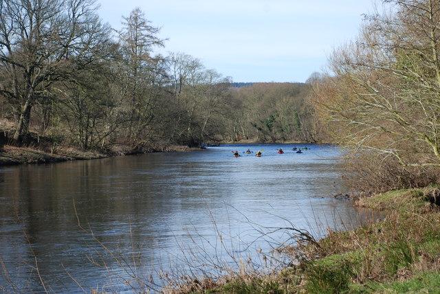 River North Tyne near Wall Northumbria