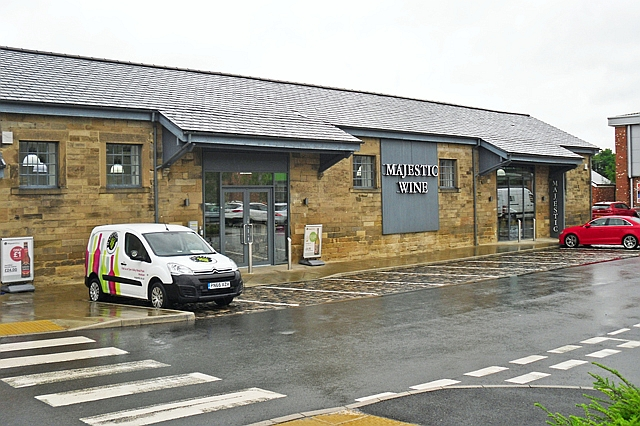 Old railway shed converted to a retail unit