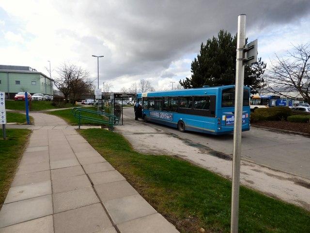 Bus stops at Wythenshawe Hospital