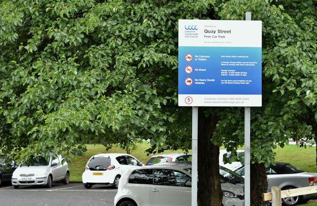 Free car park, Lisburn (July 2017)