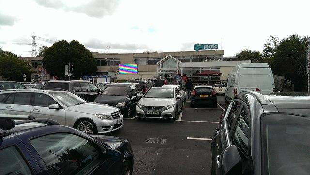 Frankley Services southbound car park, M5, near Birmingham